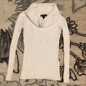 INC Ivory Cream Knit Top Long Sleeve Size S